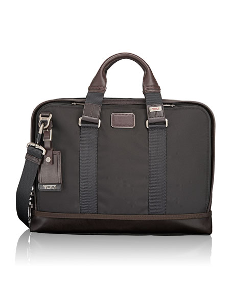 Tumi Alpha Bravo Hickory Andrews Slim Brief
