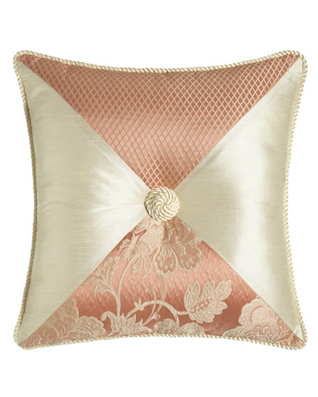 "Austin Horn Collection Primrose Pieced Pillow, 18""Sq."