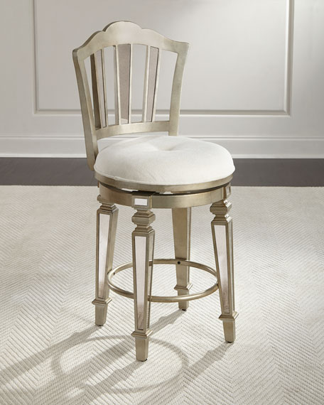 Bardot Mirrored Swivel Counter Stool