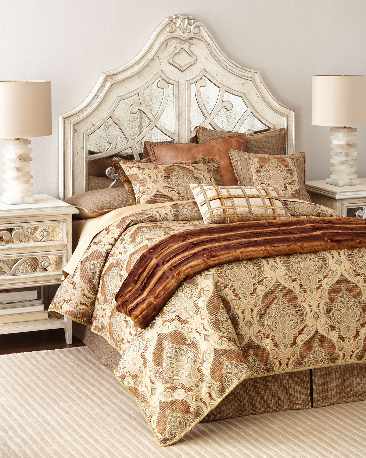 Lynley Mirrored Queen Headboard