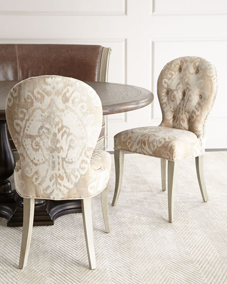 Massoud Alynda Banquette, Porcelain Dining Chair, & Lahoma