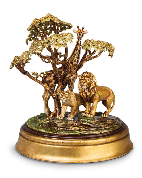 Jay Strongwater Giraffe & Lion Tableau