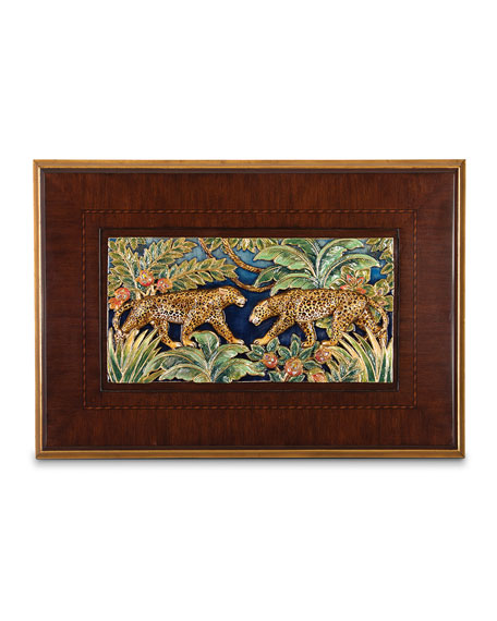 Jay Strongwater Jungle Scene Wall Art