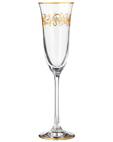 """Oro Bello"" Flutes, Set of 4"