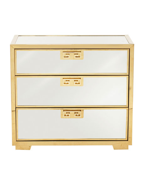 Continental Mirrored Nightstand