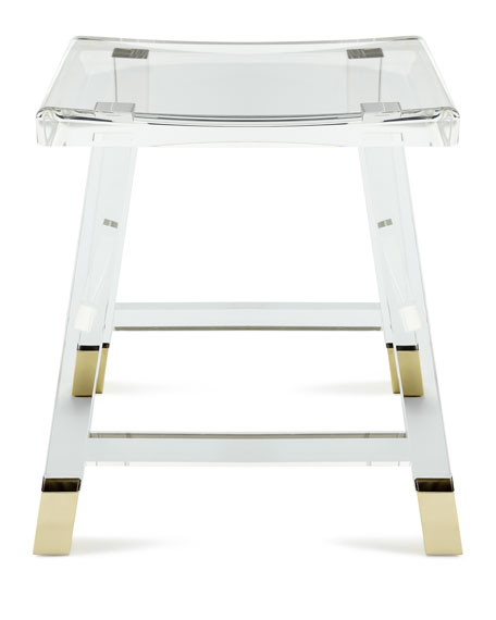 dyer acrylic vanity seat
