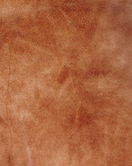 "Pyar & Co. Dohni Leather Sham, 26""Sq."