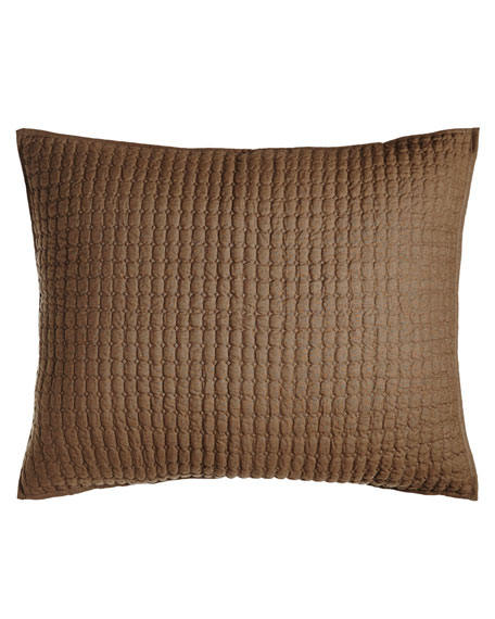 Amity Home Standard Catalina Quilted Linen Sham