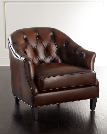 CAMBY LEATHER TUFTED CHAIR