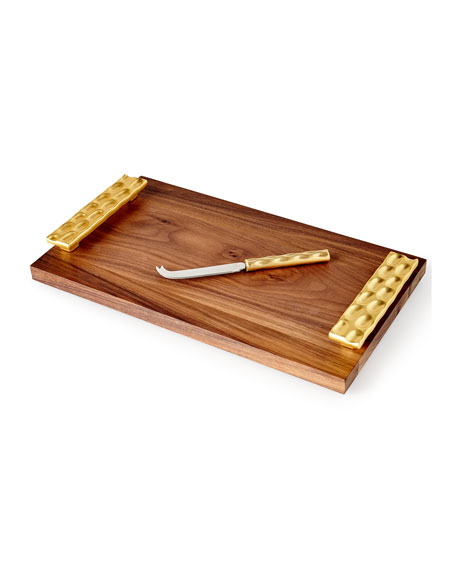 Michael Wainwright Truro Wood Cheese Board with Knife