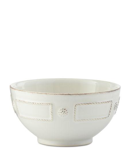 Juliska Berry & Thread French Panel Whitewash Cereal/Ice Cream Bowl