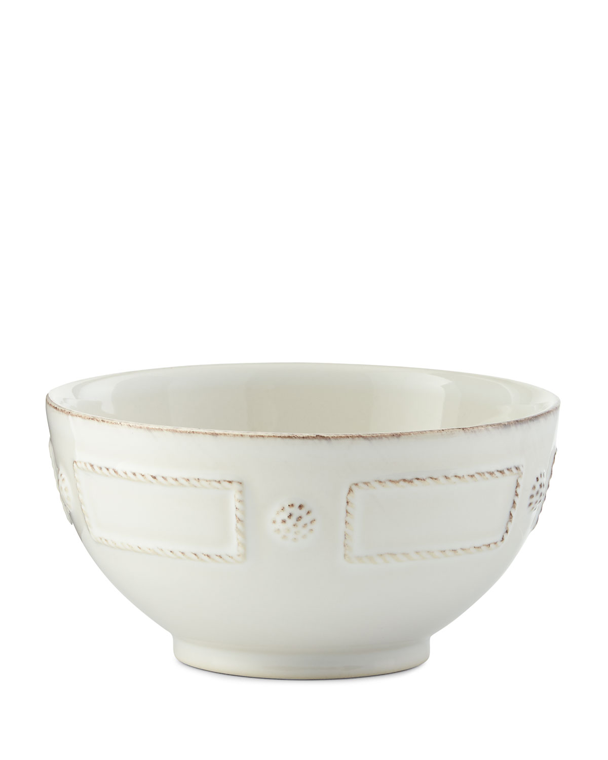 Juliska Berry & Thread French Panel Whitewash Cereal/Ice Cream Bowl