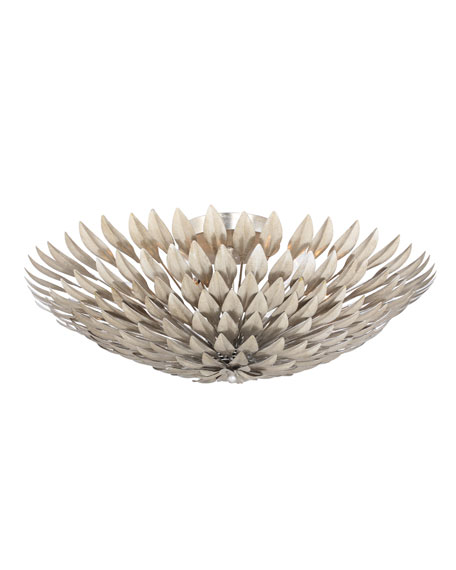Brioche 6-Light Antiqued Silver Ceiling Mount Fixture