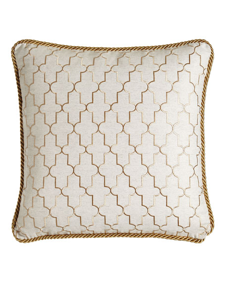 """Isabella Collection by Kathy Fielder Adeline Reversible Pillow, 20""""Sq."""
