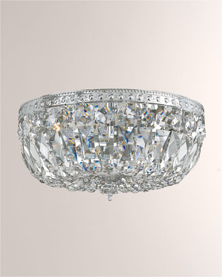 Crystorama Clear Hand-Cut Chrome 3-Light Ceiling Mount Fixture