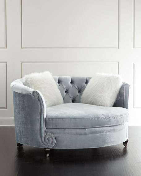 Image 1 of 2: Haute House Harper Tufted Cuddle Chair