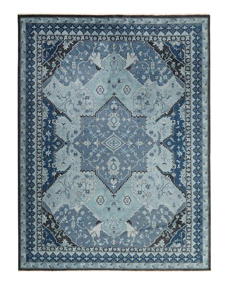 Reynolds Blue Rug, 4' x 6'