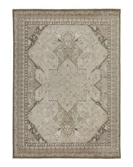 Image 2 of 2: Ralph Lauren Home Reynolds Dove Gray Rug, 8' x 10'