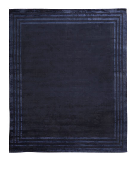 Image 4 of 5: Ralph Lauren Home Ellington Border Rug, 6' x 9'