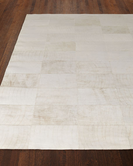 Superior Dooley Ivory Leather Rug, ...