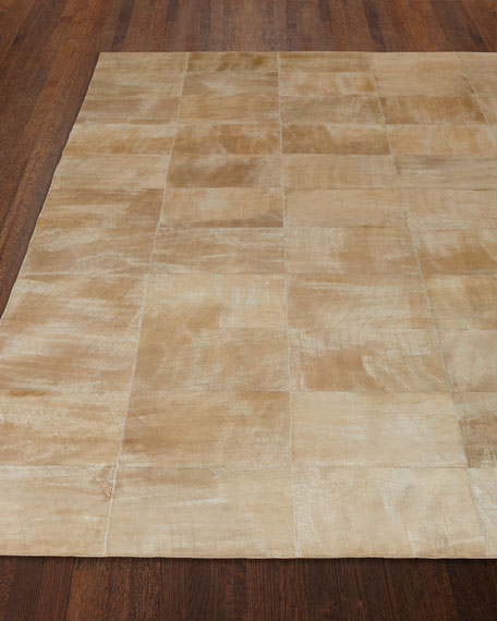 Dooley Beige Leather Rug, 8' x 11'