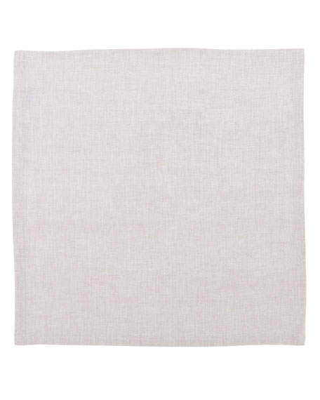 Mode Living Hamptons Beige Linen Napkins, Set of