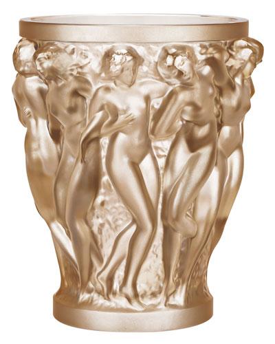 Bacchantes Gold Luster Vase