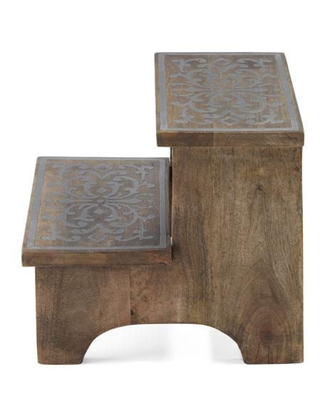 Wood & Metal Step Stool