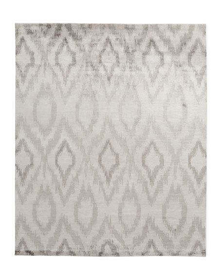 Exquisite Rugs Mesa Hand-Knotted Silver Rug, 6' x 9'