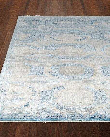 Venetian Blue Fine Rug, 9' x 12'