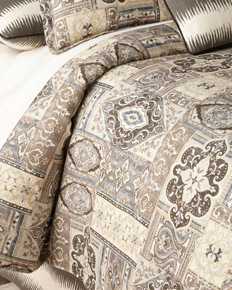 Jane Wilner Designs Queen Phoebe Tile Duvet Cover