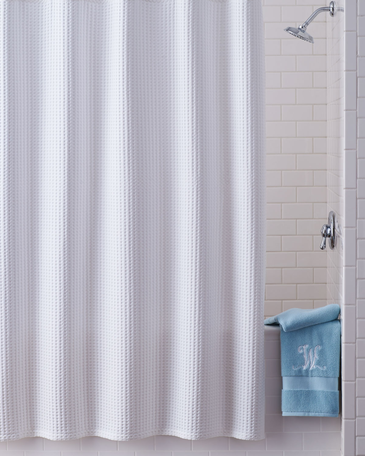 Kassatex Honeycomb Shower Curtain