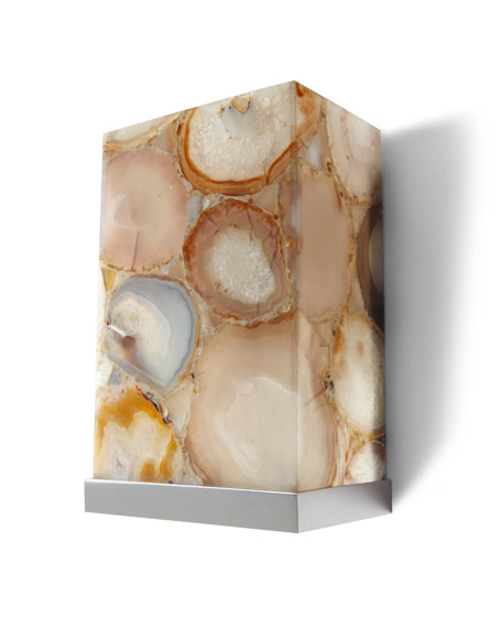 Illuminated Agate Shade 2-Light Sconce