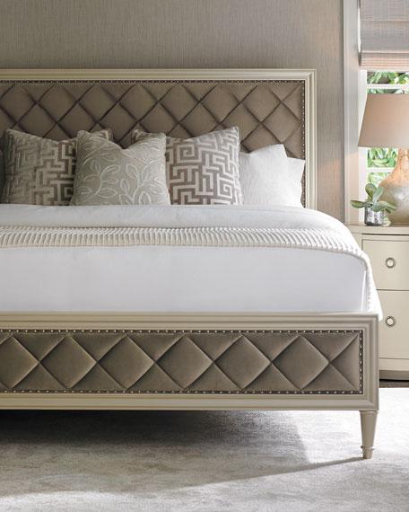 Millet Diamond-Tufted Queen Bed