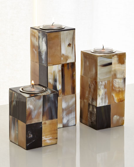 John-Richard Collection Caramel & Cream Candleholders, 3-Piece