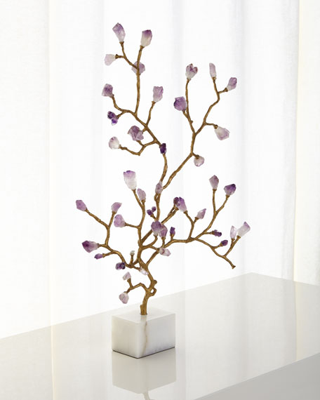 John-Richard Collection Amethyst Branch Sculpture