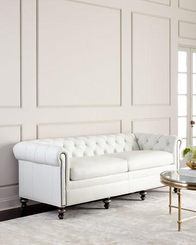 Perfect Whitestone Chesterfield Leather Sofa
