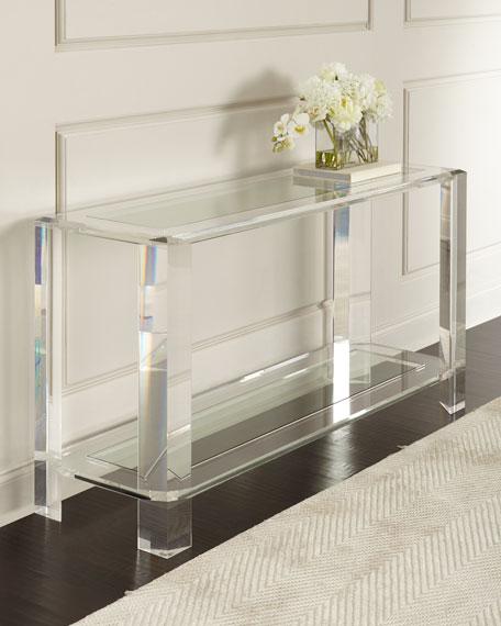 Interlude Home Landis Acrylic Console Table Neiman Marcus