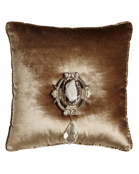 "Misti Thomas Modern Luxuries Chani Lei Joule Medallion Pillow, 20""Sq."