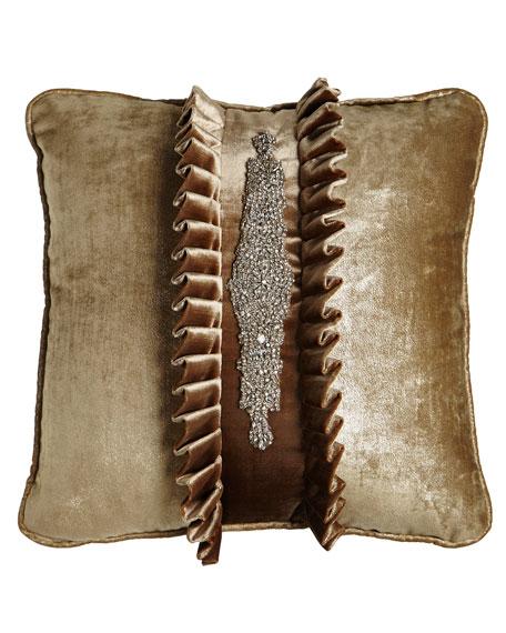 """Misti Thomas Modern Luxuries Chani Lei Tuxedo Pillow, 20""""Sq."""