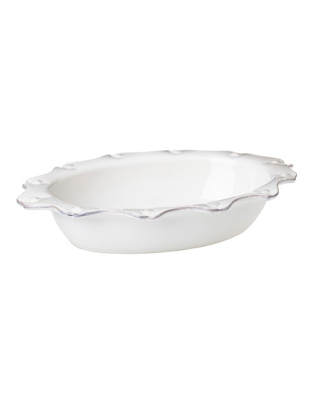 "Juliska Berry & Thread Whitewash 13"" Oval Baker"