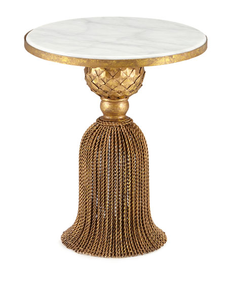 Kay Marble Tassel Side Table