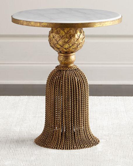 Kay Marble Tassel Side Table