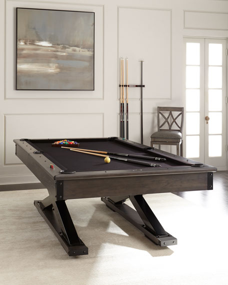 Bronco Pool Table with Table Tennis Conversion Set