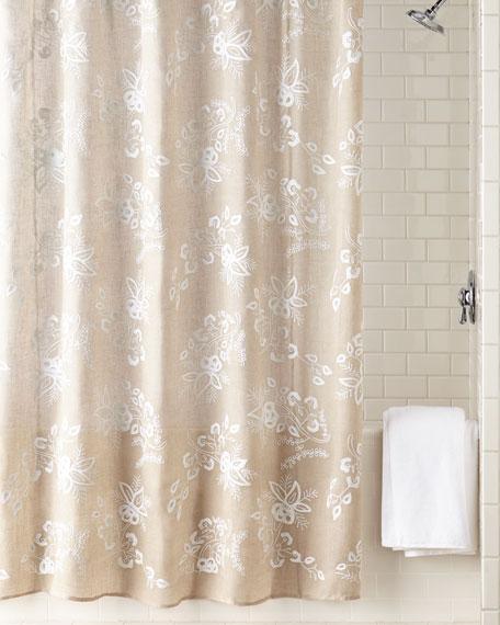 John Robshaw Pasak Shower Curtain Neiman Marcus