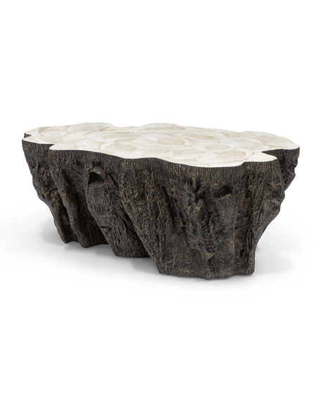 Palecek ursula fossil coffee table for Fossil coffee table