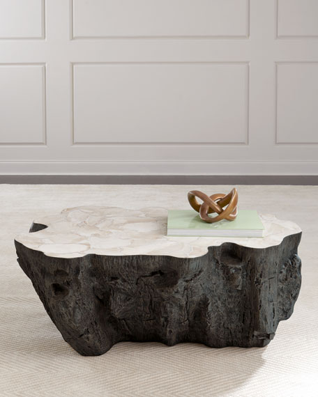 Palecek Ursula Fossil Coffee Table