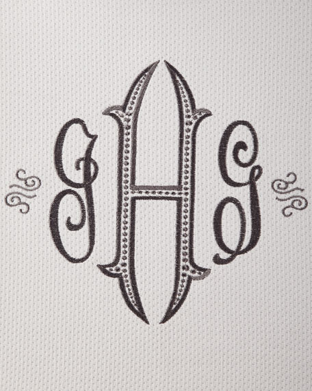 Angelina Shower Curtain, Monogrammed