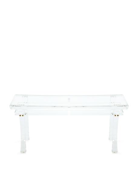 Interlude Home Jacinda Acrylic Bench