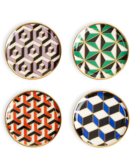 Image 2 of 3: Jonathan Adler Versailles Coasters, 4-Piece Set